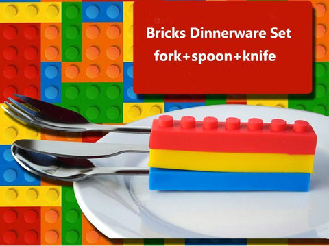 Brick Shape Stackable Cutlery Set - Trendy Outdoor Deals Store