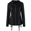 Image of Black Ribbon Gothic Hoodie
