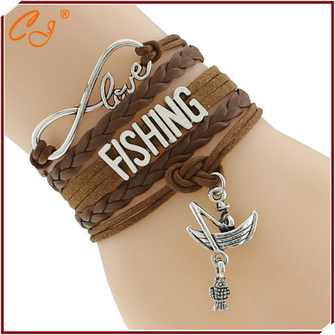 Infinity Love Fishing Charm bracelets - Trendy Outdoor Deals Store