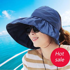 Sun Hats sun visor hat Sun Hats for women with big heads beach hat summer UV protection - Trendy Outdoor Deals Store