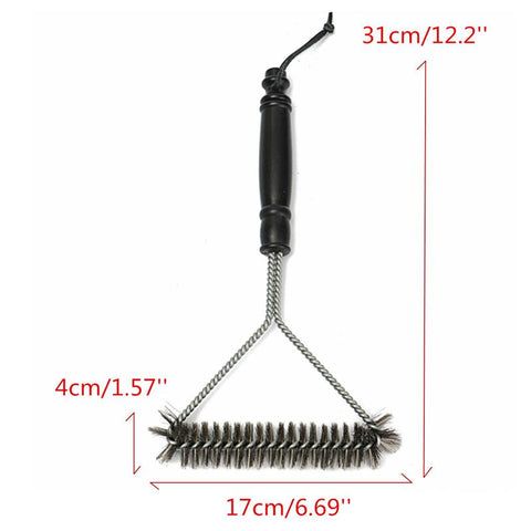 Non-stick Grill BBQ Stainless Steel Wire Bristles Cleaning Brush