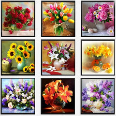 Beautiful Flower Collection Diamond Painting Kit-FREE- Just Pay Shipping fees