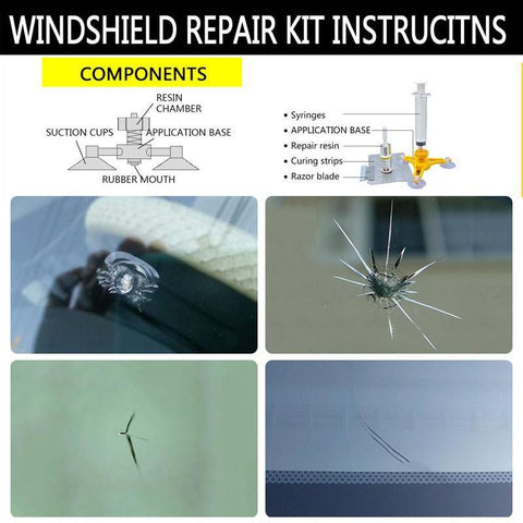 Super Windscreen Repair Kit - Your Fast & Effective Solution! - Trendy Outdoor Deals Store
