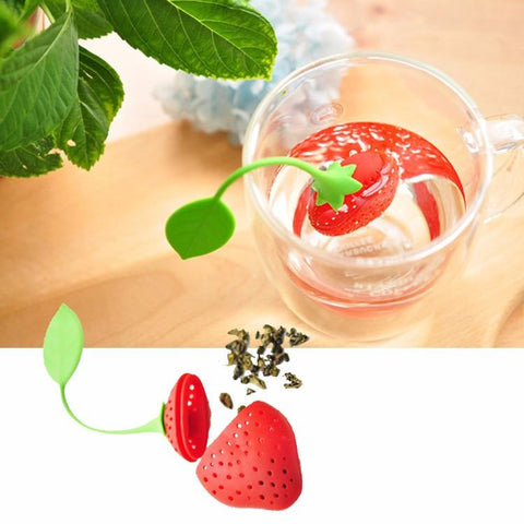 STRAWBERRY TEA LEAF INFUSER - Trendy Outdoor Deals Store