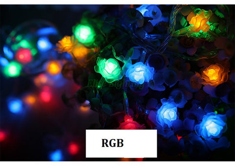 LED Rose Flower  String Lights