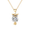 Image of Stunning Crystal Zircon Owl Jewerly