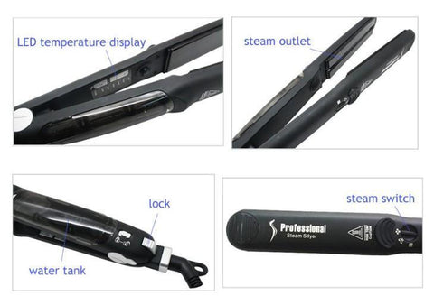 Salon Professional Steam Hair Straightener with Gift Box - Trendy Outdoor Deals Store