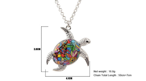 Vintage Ocean Collection Turtle Necklace