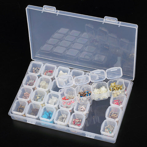 28 Pack Bead Storage Box - trendyoutdoordealsstore.com