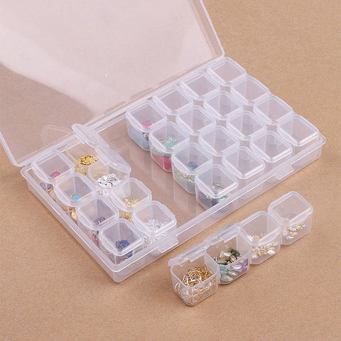 28 Pack Bead Storage Box