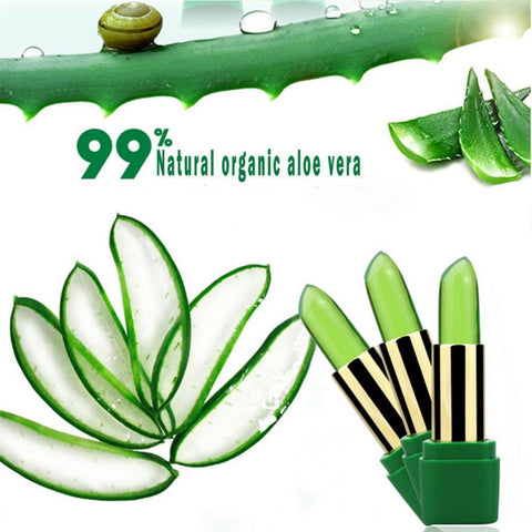 Organic Aloe Vera Natural Temperature Change Color Lipstick - trendyoutdoordealsstore.com