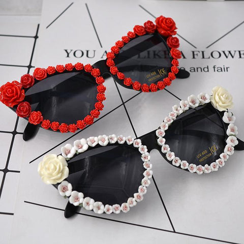 PRETTY ROSE POLARIZED CAT EYE SUNGLASSES - Trendy Outdoor Deals Store