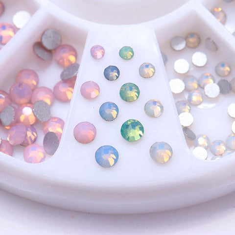 Opal Rhinestones Flat Bottom 3D Nail Decorations - trendyoutdoordealsstore.com