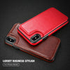 Image of NEW-Retro PU Leather Case For iPhone 8 Plus Card Slot Holder Cover For iPhone X 8 7 6 6s Plus Luxury Protective Back