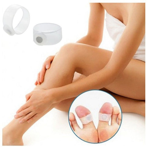 Magnetic Toe Rings Therapy Slimming Weight Loss Silicone - trendyoutdoordealsstore.com
