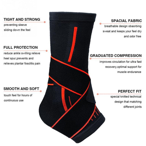 Ankle Protective  Brace Compression Support Sleeves - trendyoutdoordealsstore.com