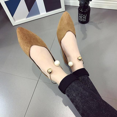 Nina- Suede Slip on Flat shoes - trendyoutdoordealsstore.com