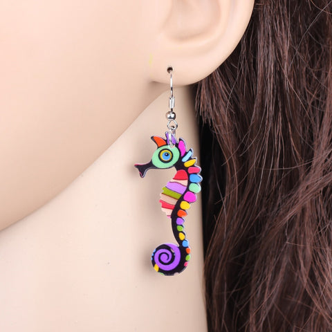 Vintage  Hippocampus Seahorse Earrings
