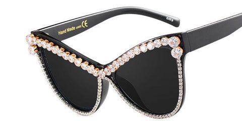 STUNNING DIAMOND CAT EYE SUNGLASSES - Trendy Outdoor Deals Store