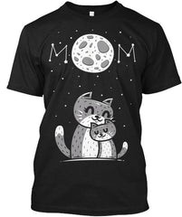 NEW-VINTAGE MOON AND CAT MOM TSHIRT