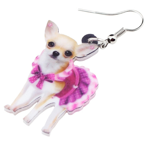 Adorable Chihuahua Dog Earrings