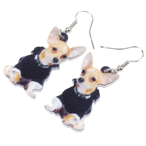 Novelty Chihuahua Dog  Earrings - trendyoutdoordealsstore.com