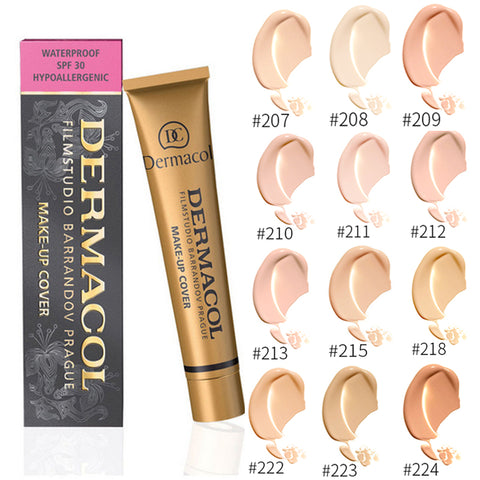 Dermacol Skin Make-up Cover - Waterproof Hypoallergenic Foundation 1oz