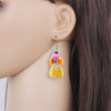 Image of Happy Poodle Dog Earrings