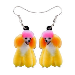 Happy Poodle Dog Earrings