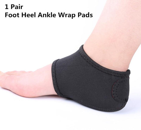 Foot Heel Ankle Wrap Pads Plantar Fasciitis Therapy Pain Relief Arch Support-2pcs