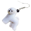 Image of Lovely Bichon Frise Dog Earrings