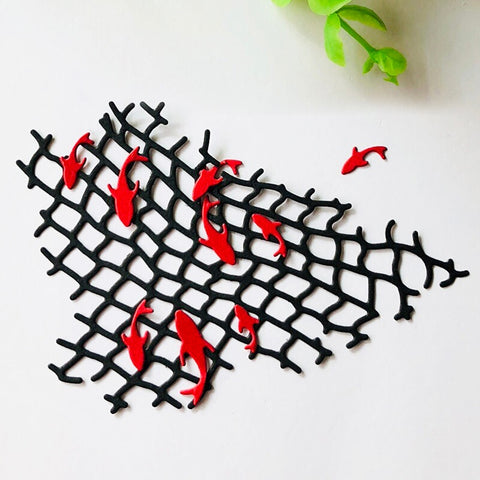 Fishing Net Metal Cutting Dies Stencils - trendyoutdoordealsstore.com