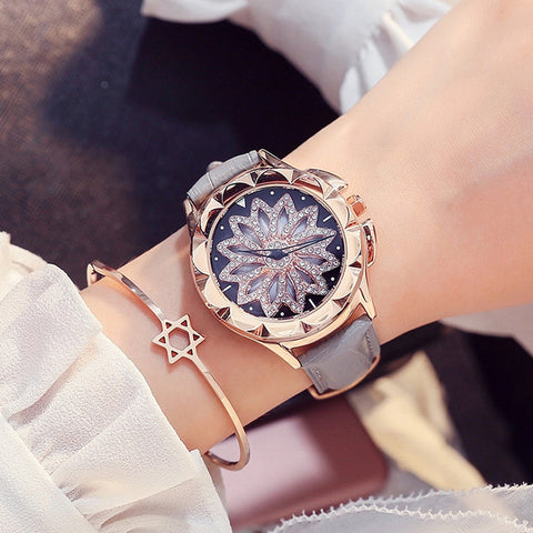 Rose Gold 360 Rotating Dial Watch