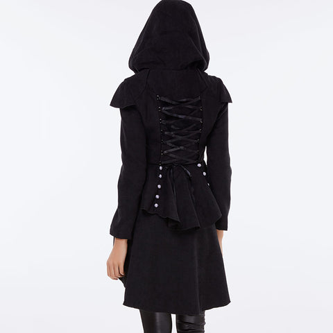 Vintage  Trench Gothic Black Coat
