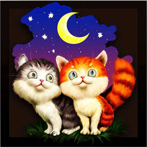Lovely Cartoon Cat Diamond Painting Kit - trendyoutdoordealsstore.com