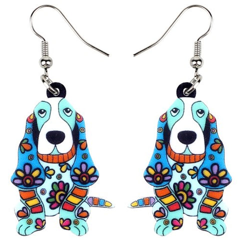 Floral Dog Earrings