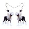 Image of Elegant Chinese Crested Dog Earrings