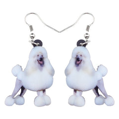 Smile Poodle Dog Earrings