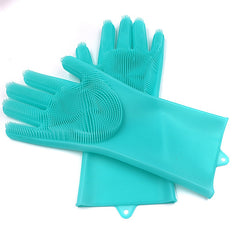 Magic Silicone Scrubber Rubber Cleaning Gloves