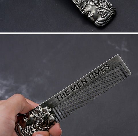 Metal Beard Comb Men Hair Beard Trim Tool