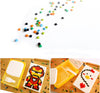 Image of Plastic Kids Bricks DIY Pattern Bento Lunch Box With Fork