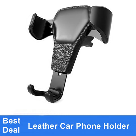 Universal Leather Car Phone Holder
