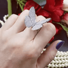 Image of CRYSTAL STONES BUTTERFLY RING - Trendy Outdoor Deals Store