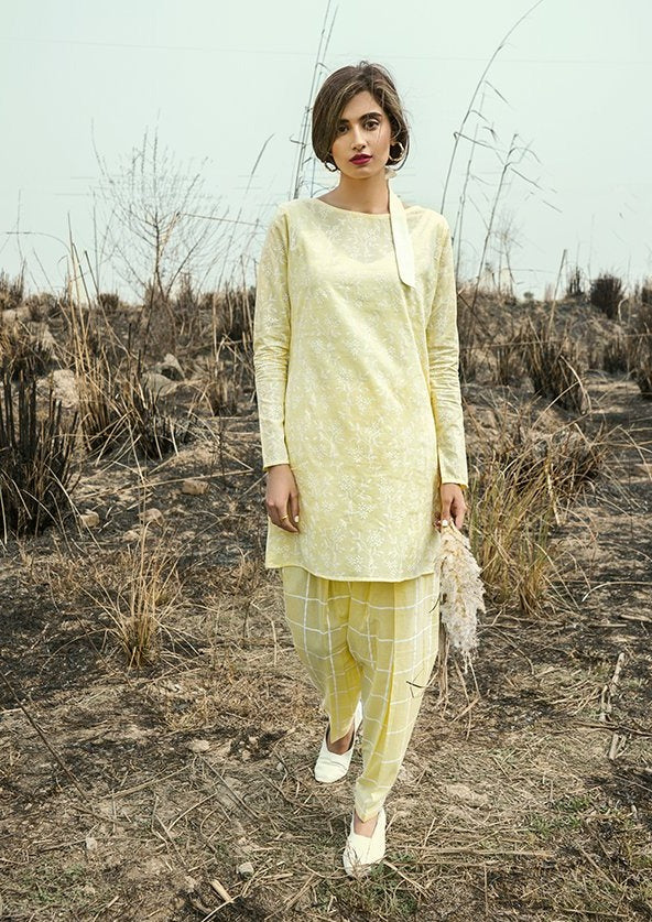Yellow Shalwar Kurta Set