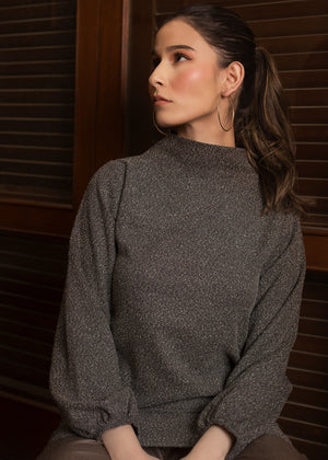 Mock Neck Wool Tunic