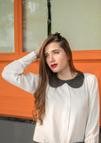 Poppy Collar Blouse with Box Pleat
