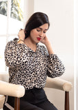 Black and White Cheetah Blouse