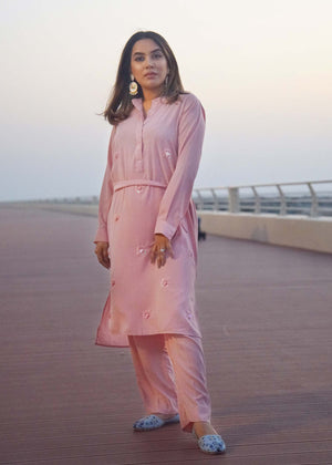 Embellished Two Piece Kurta and Straight Pants