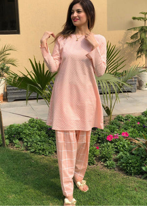 Peach shalwar and kurta set
