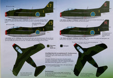 "Load image into Gallery viewer, SAAB j 29 A/B/C/F Decals ""Tunnan Part III"" 48D021 1/48 scale"